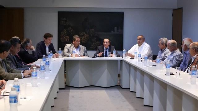 Dante Sica durante la reunión con los sindicatos y las cámaras empresarias
