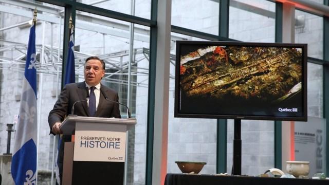 Las murallas serán removidas del suelo y se procederá a secar la madera, un trabajo que demorará dos años (Ministerio de Cultura de Quebec)