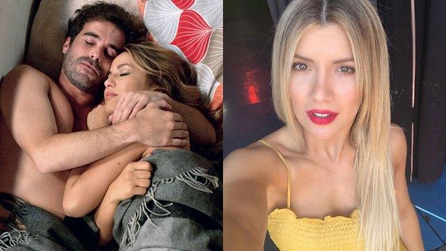 A la izquierda, la foto de la polémica entre Cabré y Flor Vigna. A la derecha, Laurita Fernández, la novia del actor. (Fotos: Instagram)