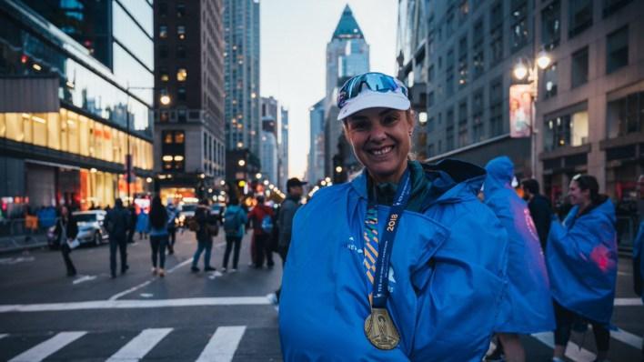 Hasta este domingo Mina Guli ya corrió ocho maratones