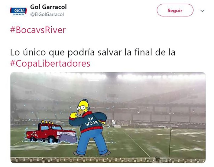 Meme Boca River_Superfinal Libertadores 2018