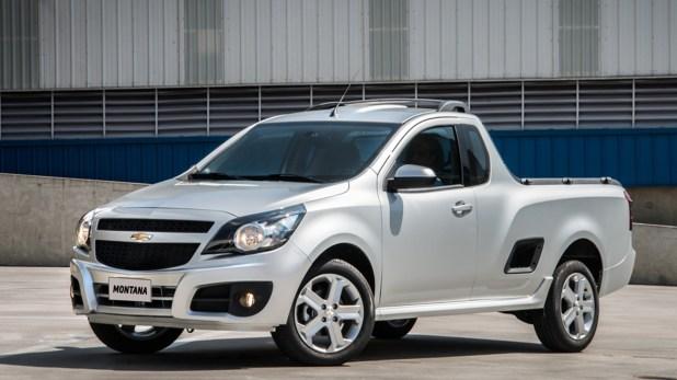 Chevrolet también tendrá una similar a las Toro y Oroch. En la imagen, la Montana, su pick up chica. La nueva la podría reemplazar.