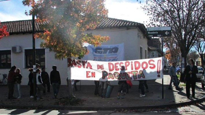 Los trabajadores realizaron varias manifestaciones