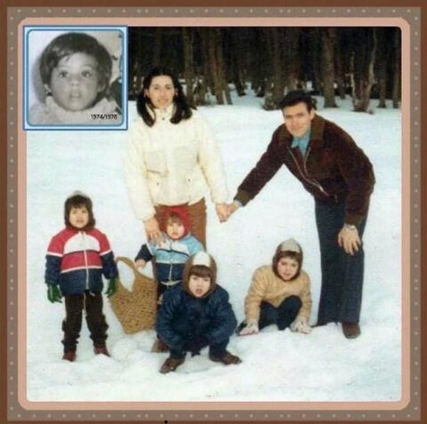 El capitán de la Fuerza Aérea, con su esposa María Cristina y sus cinco hijos: Gustavito -fallecido a los tres años- Martín Adolfo, Guillermo Oscar, Walter Rodolfo y Roxana Patricia
