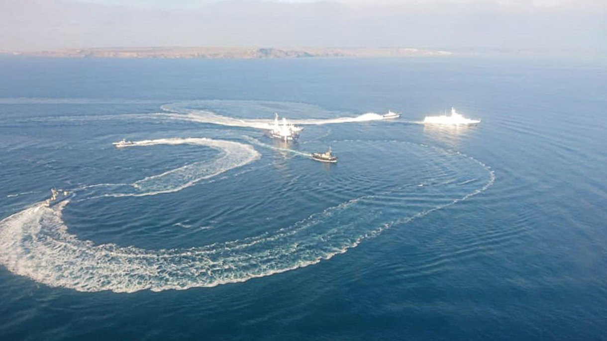 Los barcos ucranianos fueron interceptados por la guardia costera rusa
