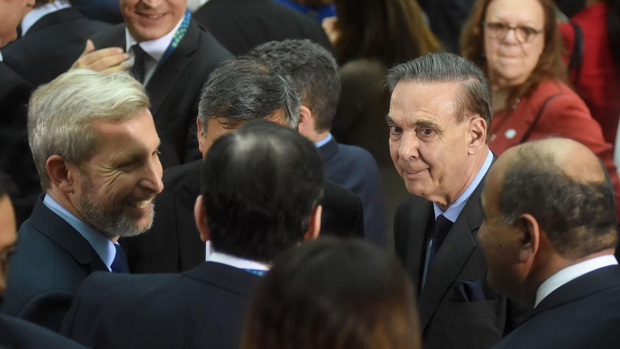 El ministro Rogelio Frigerio y el senador Miguel Ángel Pichetto