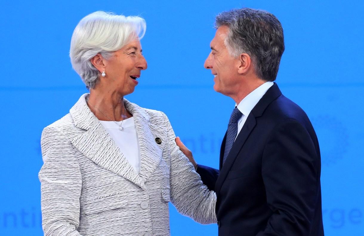 Christine Lagarde, directora gerente del FMI, junto a Macri (Reuters)