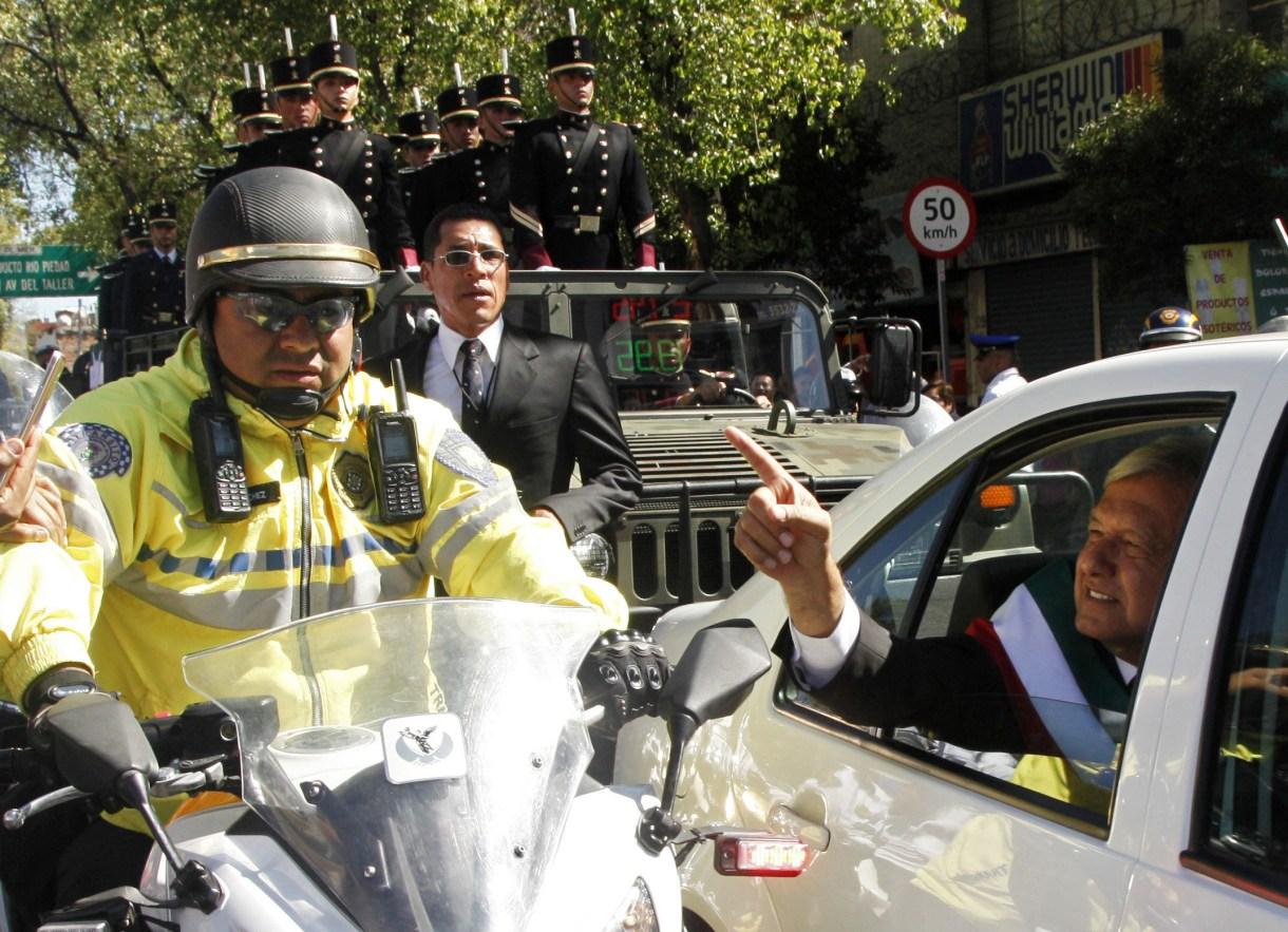 López Obrador se niega a tener un equipo de seguridad de élite (Foto: Claudio Cruz / AFP
