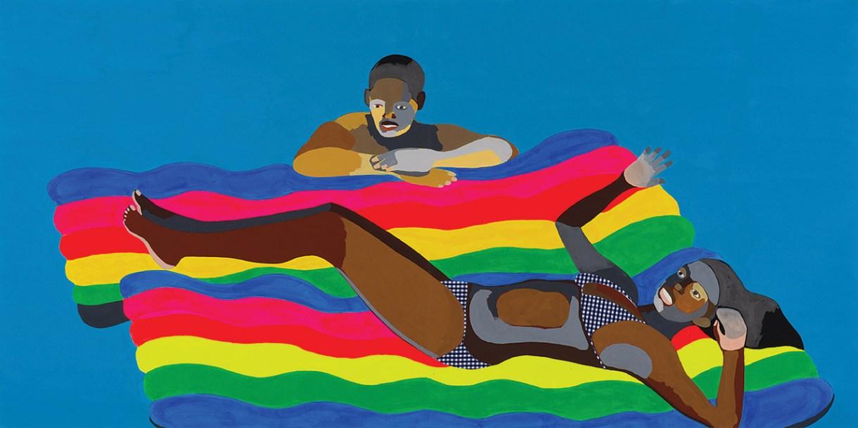 """Derrick Adams, """"Floater"""", una de las obras que se verán en """"This Is Not America""""."""