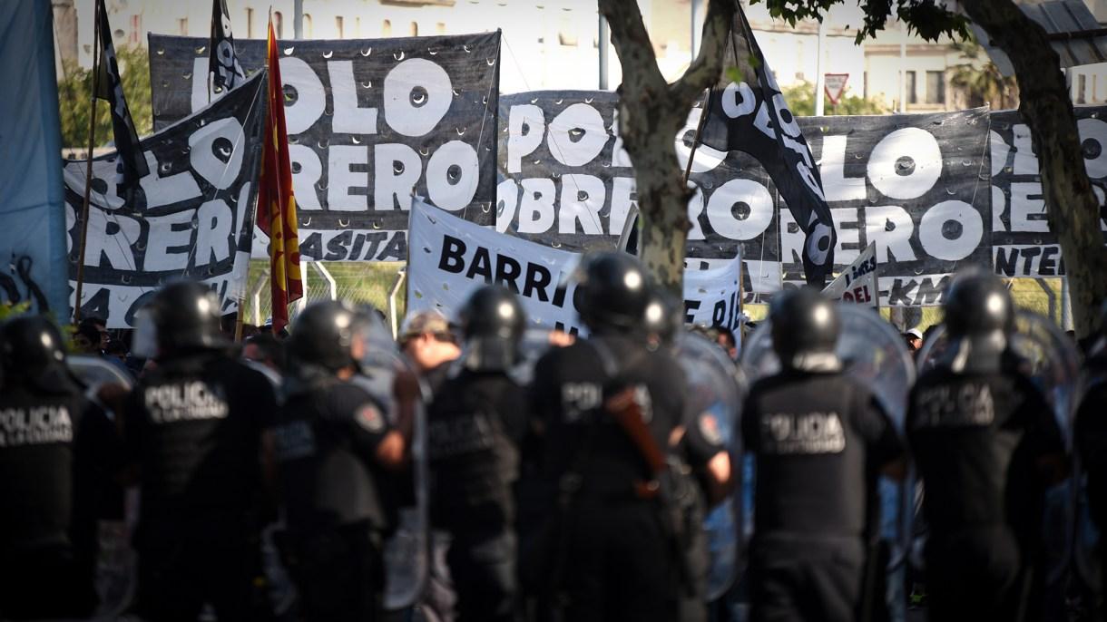 La semana pasada hubo una protesta de piqueteros en Constitución (Foto: Manuel Cortina)