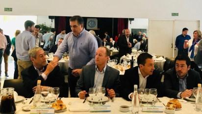 Los intendentes Jorge Ferraresi (Avellaneda), Martín Insaurralde (Lomas de Zamora), Andrés Watson (Florencio Varela) y Leonardo Nardini (Malvinas Argentinas)