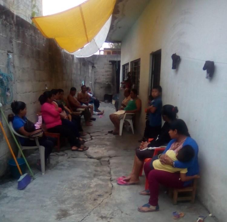 Lugar donde vive Eva Méndez con 10 familias tzeltales más, víctimas de desplazamiento forzado interno.