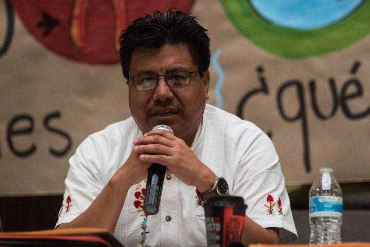 CIUDAD DE MÉXICO, 03OCTUBRE2018.- Adelfo Regino, titular del Instituto Nacional de Pueblos Indígenas (Foto: Misael Valtierra/CUARTOSCURO.COM)