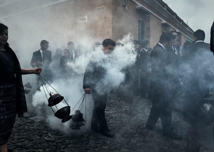 Procesión en Antigua, Guatemala