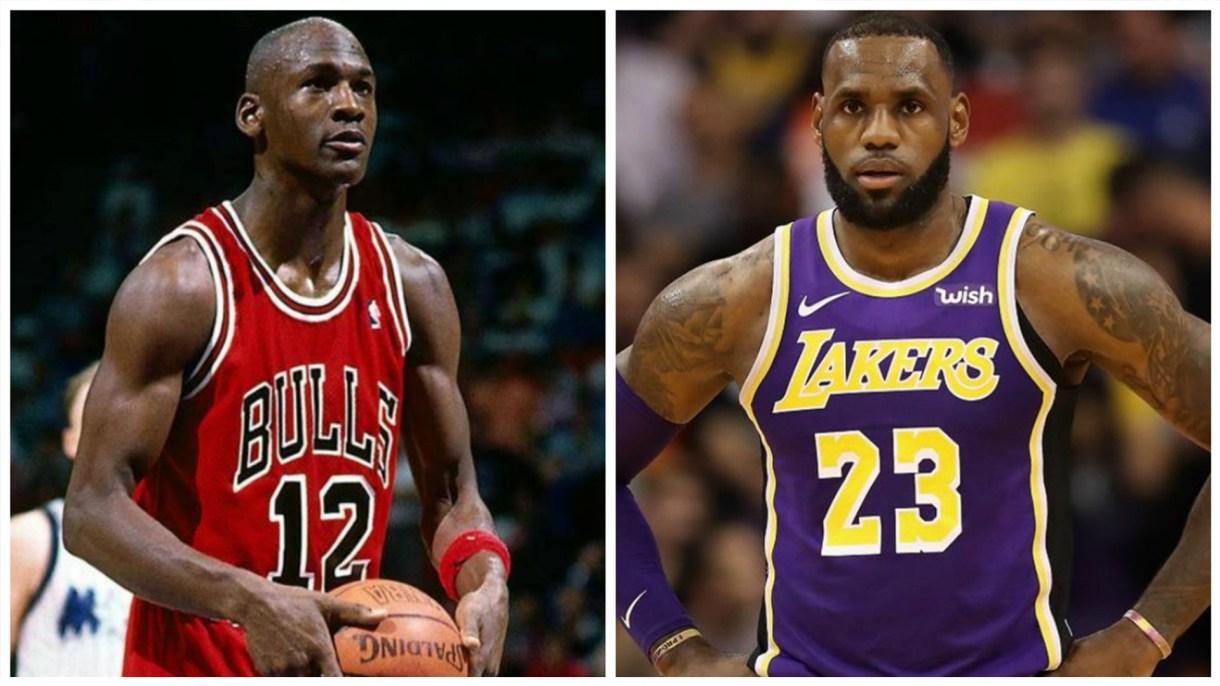 LeBron James y Michael Jordan han protagonizado un eterno debate por muchos años sobre quién es el mejor jugador de la historia (Foto: Especial)