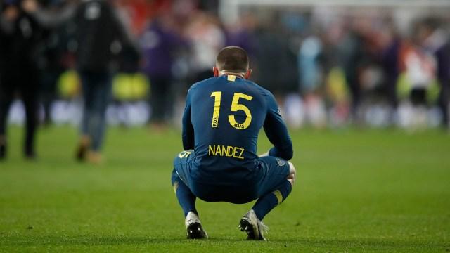 Nandez y una lesión que genera interrogantes: ¿cuándo volverá a jugar?(AP Photo/Thanassis Stavrakis)