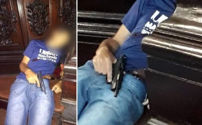 En redes sociales circularon imágenes del atacante suicida