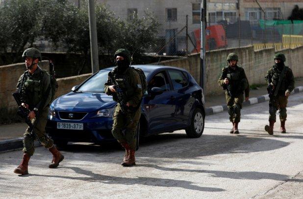 Fuerzas israelís en Ramala. (REUTERS/Mohamad Torokman)