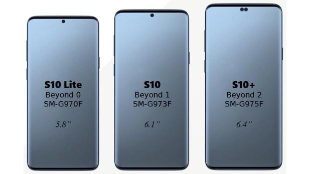 """El Samsung Galaxy S10 vendría con un display de 6,1""""; otra versión plus, con pantalla de 6,4"""" y una versión Lite, de 5,8"""" y pantalla plana o flat;"""