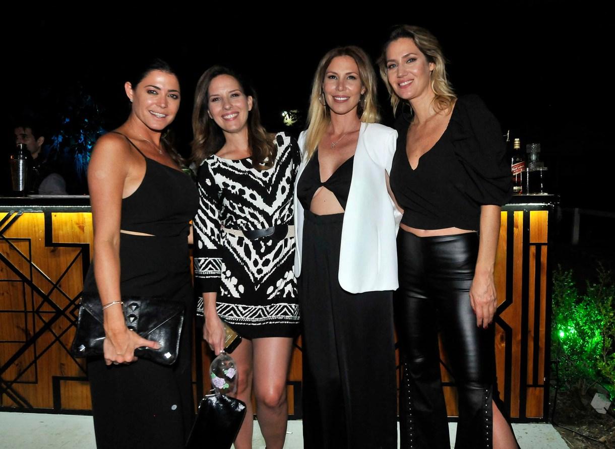 Pamela David, Soledad Larghi, Celina Rucci y Carolina Losada, presentes en la inauguración del restaurante Roldán, del empresario Daniel Vila (Teleshow)