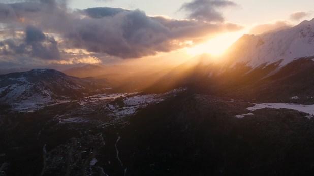 El atardecer en Ushuaia (Thomas Khazki)