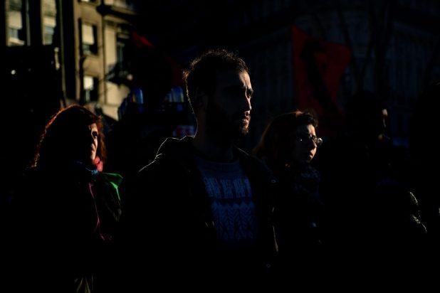 Movilización a Plaza de Mayo a un año de la desaparición de Santiago Maldonado (Nicolás Sturlberg)