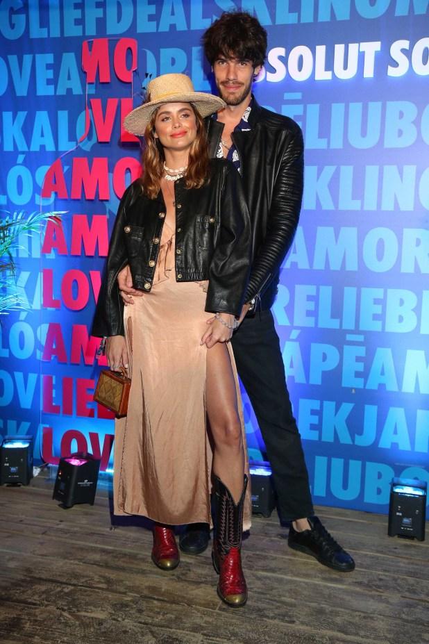 Victoria Saravia y su novio en Punta del Este (GM Press)