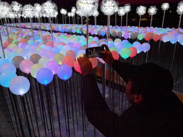 Una instalación de globos para celebrar la fecha en Taipei (Taiwan)