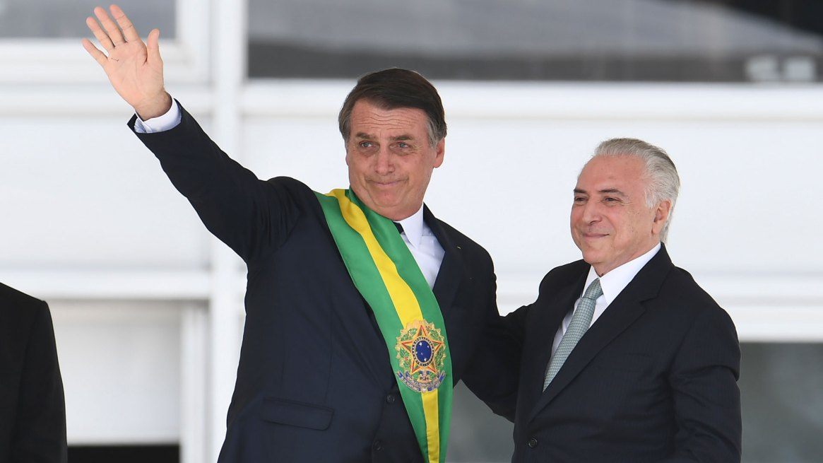 Jair Bolsonaro y Michel Temer