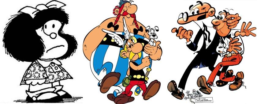 Mafalda, Astérix y Obélix, y Mortadelo y Filemón