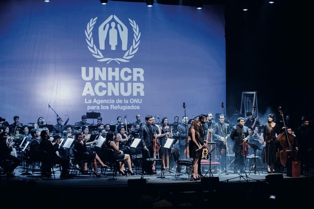 Un concierto patrocinado por ACNUR tuvo lugar en Buenos Aires y unió a miembros de distintas nacionalidades, para enviar un fuerte mensaje de solidaridad.