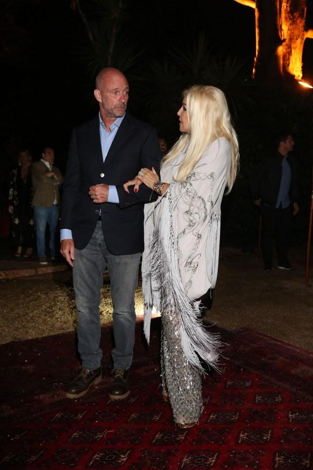 Giuseppe Cipriani recibe a Susana Giménez