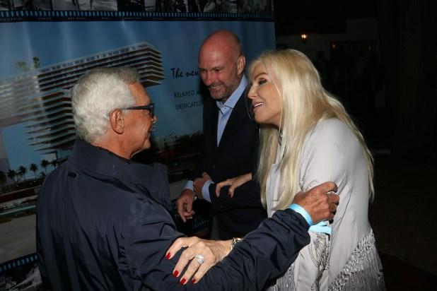 Eduardo Costantini, Giuseppe Cipriani y Susana Giménez