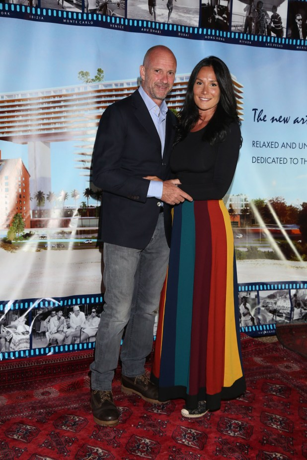 Giuseppe Cipriani y su novia Nicole Minetti