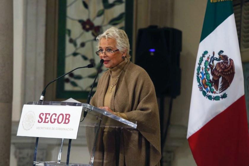 La secretaria de Gobernación, Olga Sánchez Cordero (Foto: Secretaría de Gobernación)