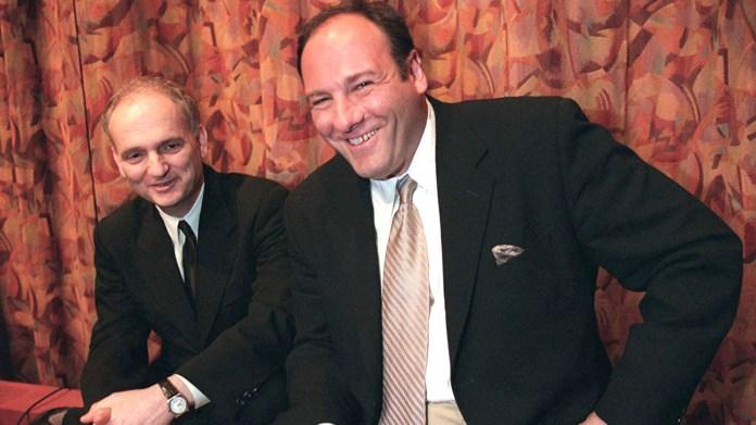 David Chase con James Gandolfini