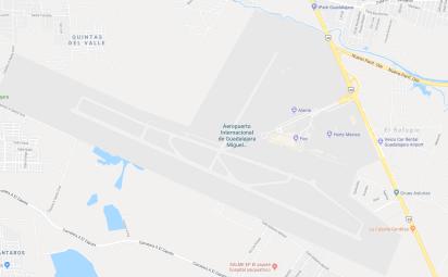 El vuelo 622 de la aerolínea mexicana despegó ayer a las 08:20 horas desde el aeropuerto de Guadalajara con dirección a San Francisco (Google Maps)