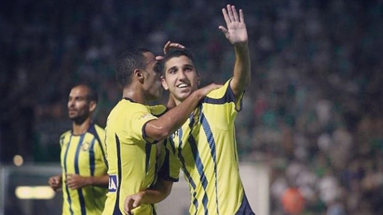 Dabour, celebrando un gol con el Maccabi Tel Aviv (@moanesdabbur)