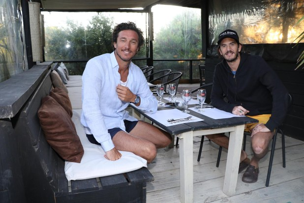 Amigos y socios: Pico y Panchi en su restaurante esteño, que transita su segunda temporada (Foto: Matías Souto)
