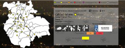 """Aunque el municipio de Chalco registraba una calidad del aire """"mala"""", sus valores mejoraron y para esta tarde la calidad ya era """"regular"""" (Foto: www.aire.cdmx.gob.mx)"""