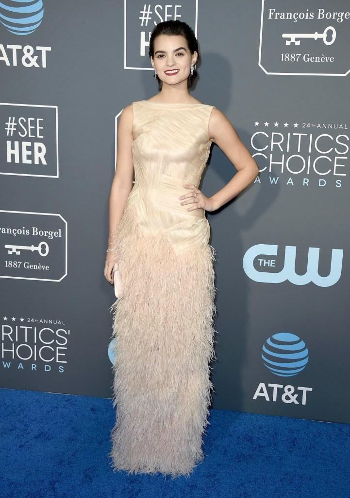 Brianna Hildebrand arrives at the 24th annual Critics' Choice Awards on Sunday, Jan. 13, 2019, at the Barker Hangar in Santa Monica, Calif. (Photo by Jordan Strauss/Invision/AP)