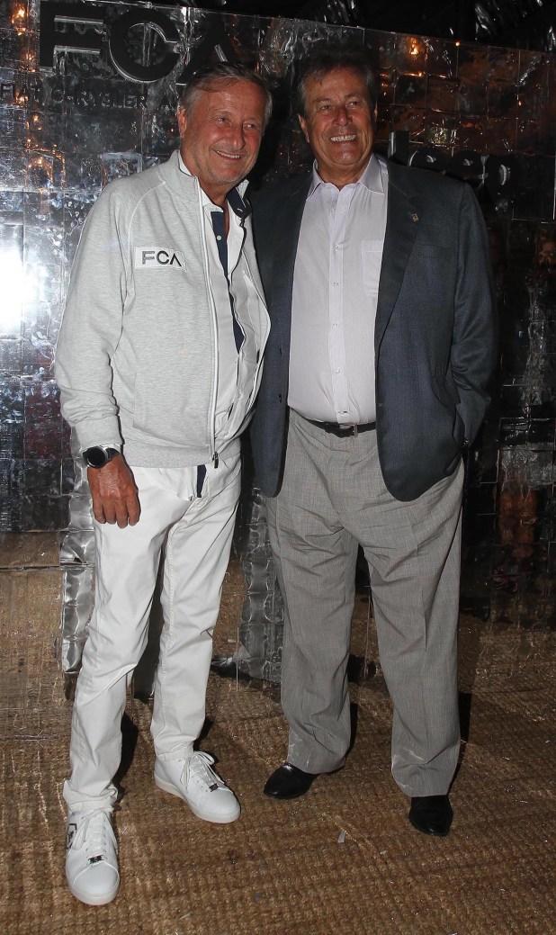 Cristiano Rattazzi junto al intendente de Maldonado y precandidato a la presidencia de Uruguay, Enrique Antía