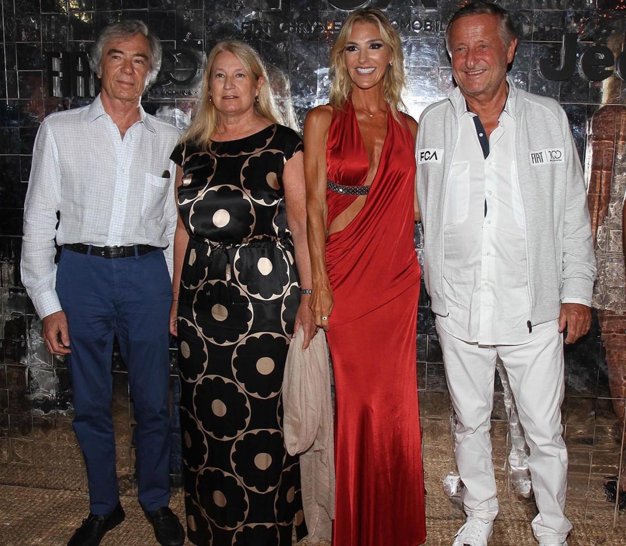Charlie Blaquier y María Taquini de Blaquier junto a Gabriela Castellani y Cristiano Rattazzi
