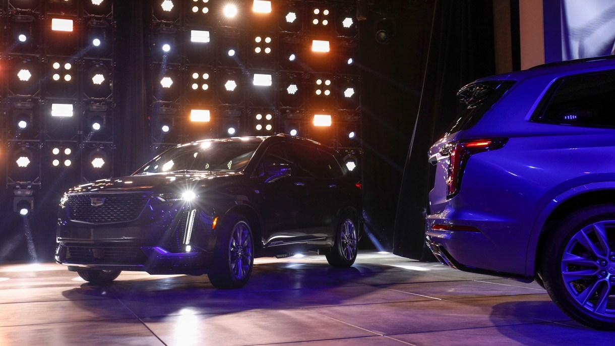 El Cadillac XT6 de General Motors, un SUV crossover de tres filas, se presenta en el Garden Theater el 13 de enero de 2019 en Detroit, Michigan. (AFP)