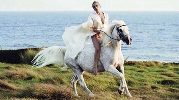 Lady Gaga escribió un emotivo tributo a a su yegua, Arabella (Instagram: @ladygaga)