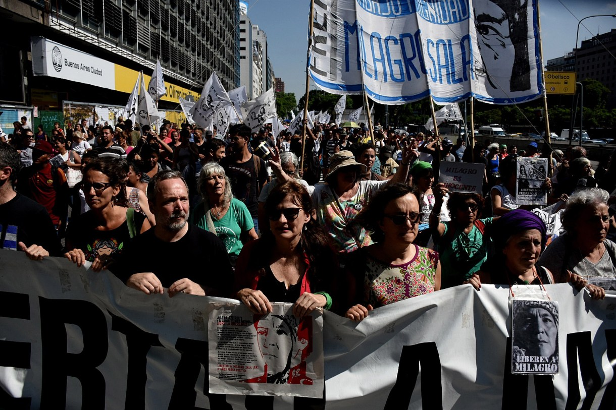 Martín Sabatella fue parte de la protesta