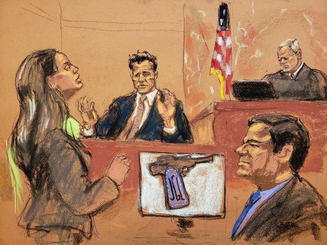 Incluso los dibujantes del tribunal tienen prohibido retratar a los jurados. (Jane Rosenberg/Reuters)