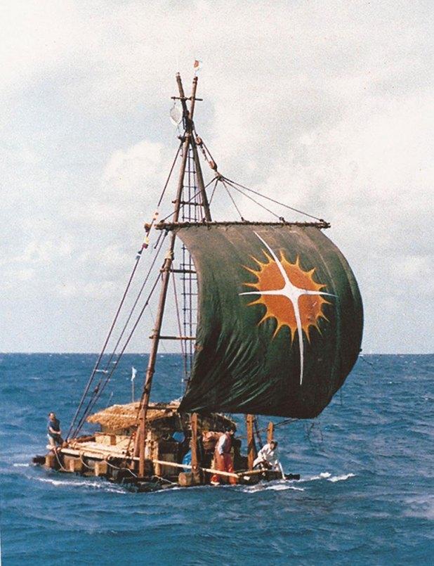 Las velas de la balsa Atlantis fueron realizadas con las viejas velas de la Fragata Libertad