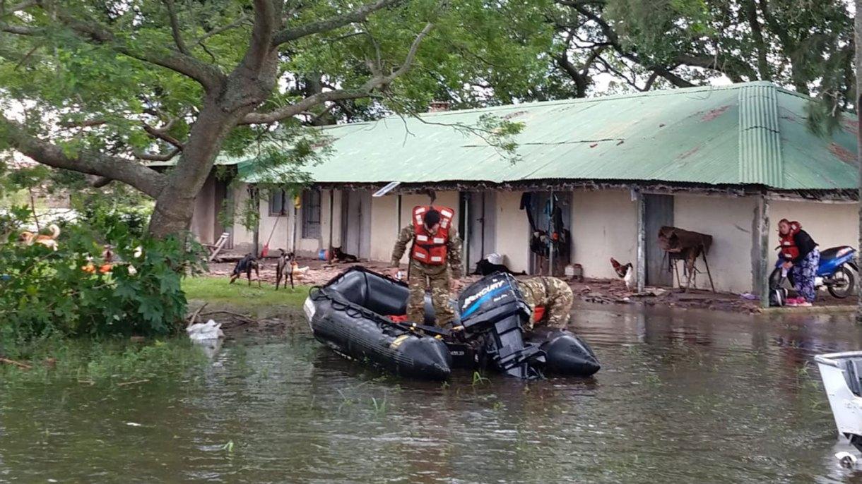 Las inundaciones afectaron la provincia de Entre Ríos (NA)