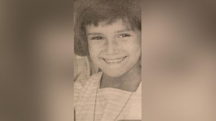 Soledad Silveyra en Mar del Plata a los ocho años